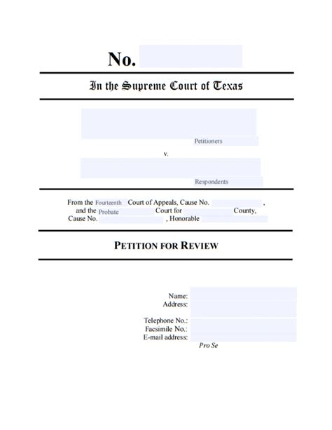 tex document template 13 printable petition template exles templates assistant
