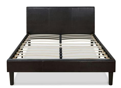 Platform Bed Slats Faux Leather Platform Bed With Wooden Slats Ebay