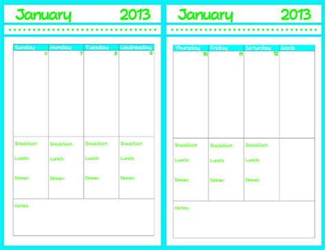 free printable weekly planner pages 2013 2013 planner with calendar printable ruminations and