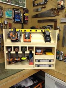 cordless drill storage and charging station diy projects for everyone