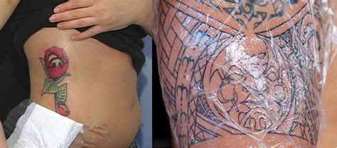 tattoo bandage gauze vs plastic wrap after inked tattoo