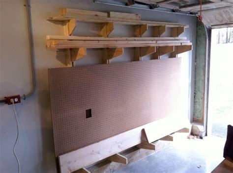 build  wall mounted lumber storage rack
