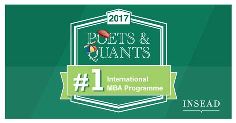 Poets And Quants Mba Rankings 2017 by Insead Tops The Poets Quants International Mba Ranking