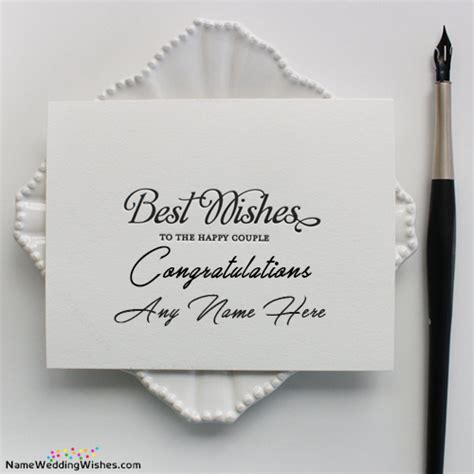 Best Wishes Congratulations Marriage Card With Name