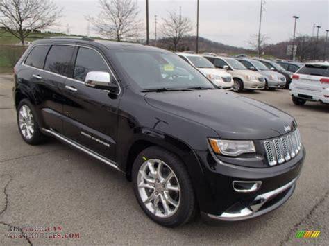 jeep summit black 2014 jeep grand cherokee summit 4x4 in brilliant black