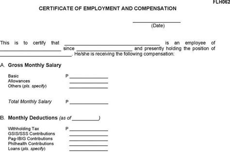 Certificate Of Employment Letter With Compensation Certificate Of Employment And Compensation Pictures To Pin On Pinsdaddy