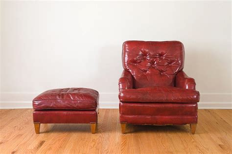 red leather chair with ottoman red leather chair ottoman homestead seattle