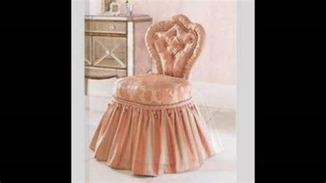 skirted vanity stool skirted vanity chair youtube