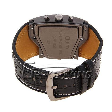 Oulm Quartz High Quality Band Fashion 3130 Leather selling oulm s dual quartz movement leather band