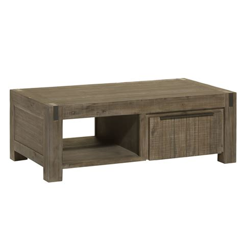 table basse en acacia contemporaine