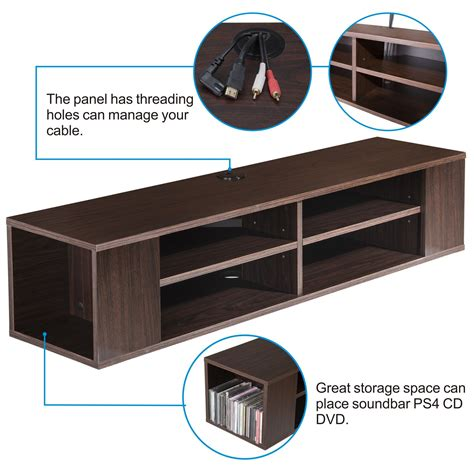 cabinet for dvd player and cable box tv console wall mounted floating wall mount media console