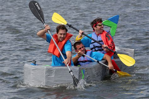 cardboard boat racers compete in hollywood orlando sentinel - Cardboard Boat Race Hollywood Fl