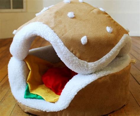 hamburger pet bed