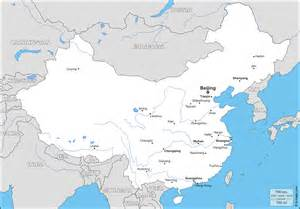 China Outline Map With Cities by China Free Map Free Blank Map Free Outline Map Free Base Map Boundaries Hydrography