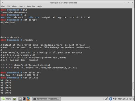 tutorial crontab linux linux how to run my bash script by crontab e stack