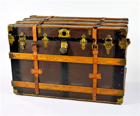 beautiful travel trunks handsome brass clad steamer trunk at 1stdibs