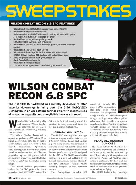swat magazine wilson combat sweepstakes by wilson combat issuu - Swat Magazine Sweepstakes