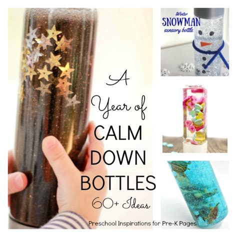 what color calms you down a year of calm down bottles pre k pages