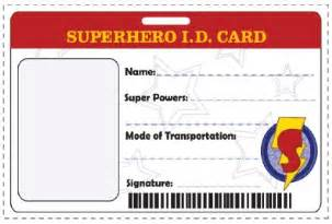 id card template create your own superhero identity