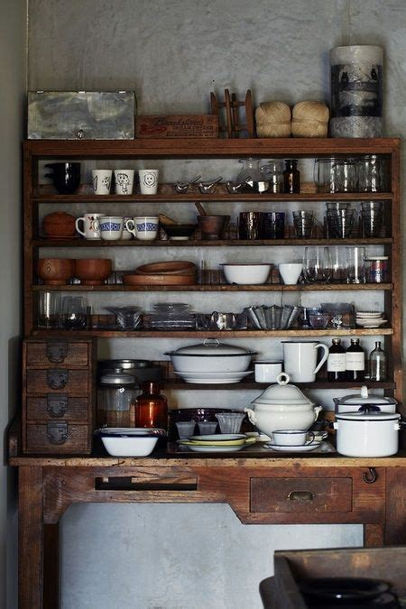 rustic dresser open shelving and pantry on pinterest