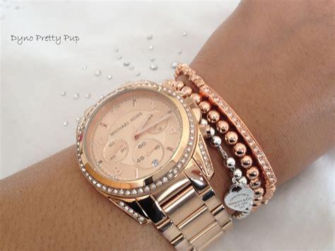 M Hael Kors 1255 Set michael kors bracelet gold plate tone beaded leather