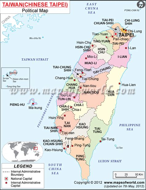 printable map taiwan political map of taiwan