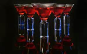 martini cherry bubbling cocktails recipe dishmaps