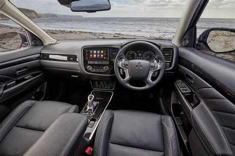 mitsubishi outlander interior updated 2017 mitsubishi outlander phev brings fast