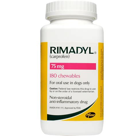 rimadyl 75mg for dogs rimadyl 75mg chewable 180 tabs