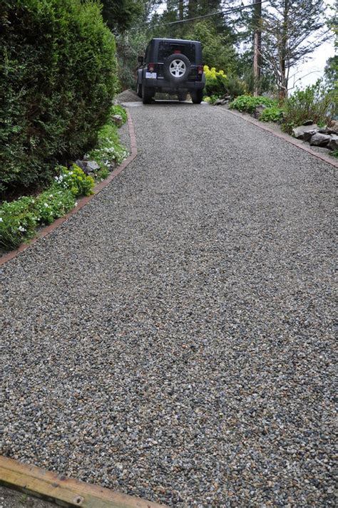 Landscape Timbers For Driveway Gravel Steep Slope Driveway Install Coast