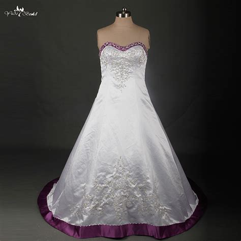 Cheap White Wedding Dresses by Cheap Purple White Wedding Dress Find Purple White