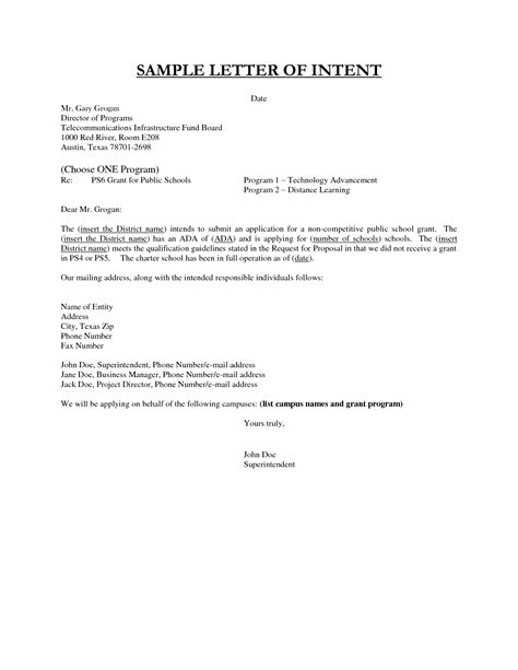 letter of intent sles crna cover letter