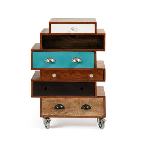 Commode Bois Design by Commode Design Bois De Manguier Multicolore Robin By Drawer
