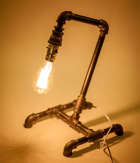 Tiny Table Lamps 16 sculptural industrial diy pipe lamp design ideas able