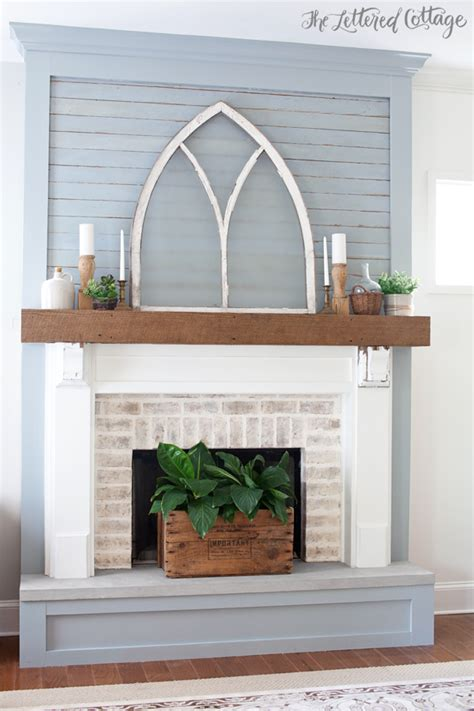 The Lettered Cottage Fireplace Makeover fireplace makeover reveal the lettered cottage