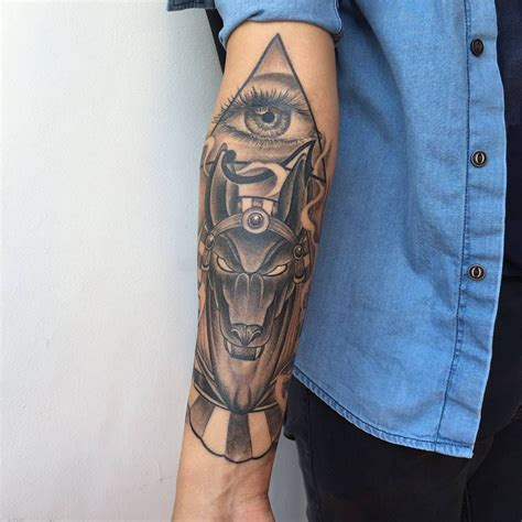 egyptian god tattoos 60 anubis designs an symbol