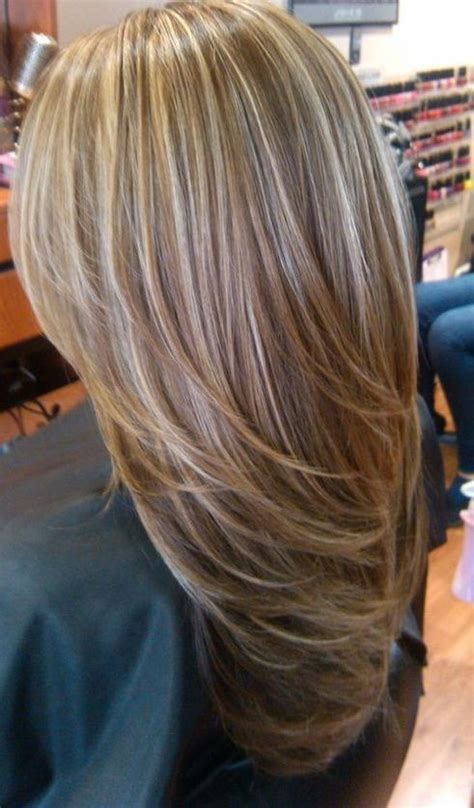 high lights for thin hair chagne style highlights and lowlights hair and