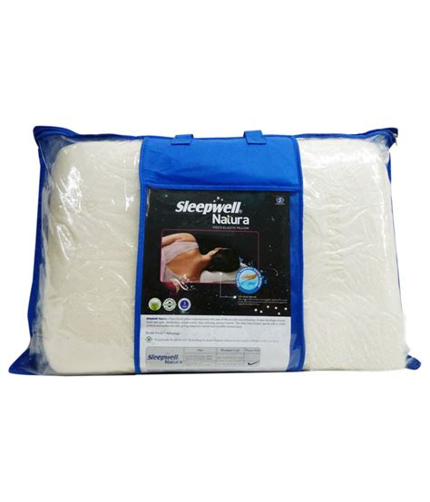 Sleepwell Pillows Shopping by Sleepwell White Cotton Memory Foam Pillow Buy Sleepwell White Cotton Memory Foam Pillow