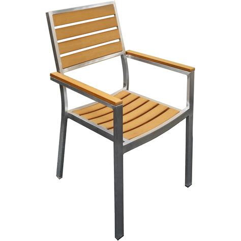 Natural Plastic Teak Metal Patio Chair Patio Chairs
