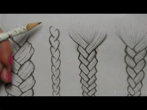 draw hair braids youtube
