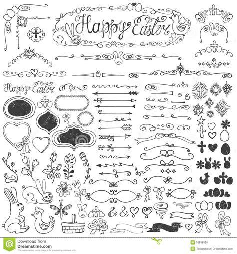 doodle ribbon free easter doodle borders egg badges ribbons floral stock