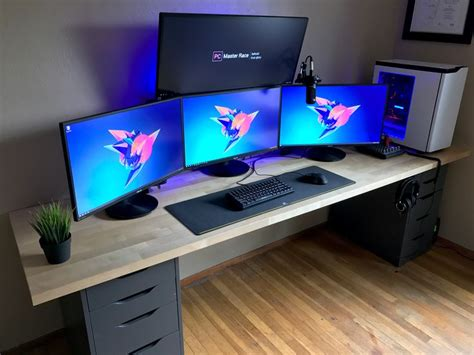 gaming setup battlestation refresh 2017 bestgamesetups com