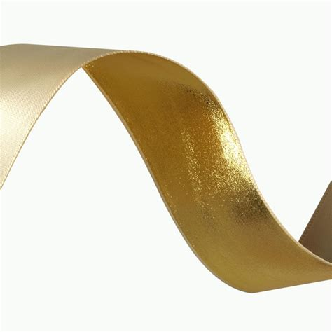 Upholstery Ribbon by 1 1 2 Reversible Satin Metallic Ribbon Discount
