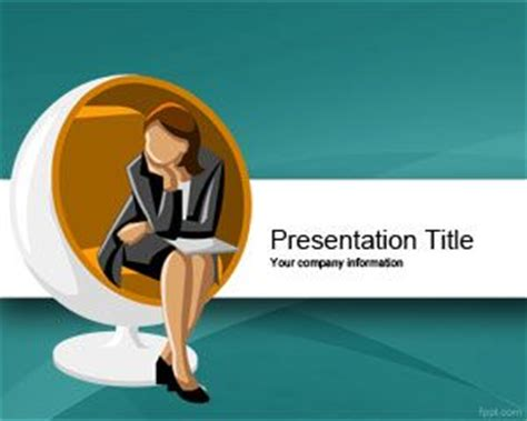 Executive Woman Scholarship Powerpoint Template Free Download Scholarship Presentation Template