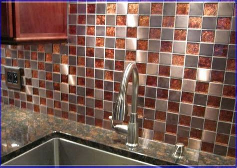 copper backsplash tiles for kitchen copper kitchen backsplash ideas quicua com
