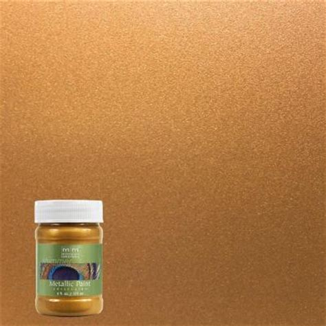 Metallic Gold Interior Paint by Modern Masters 6 Oz Tequila Gold Metallic Interior Exterior Paint Me66106 The Home Depot