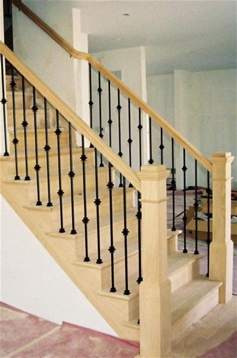 Metal Stair Banisters by Iron Balusters Stair Rail Design