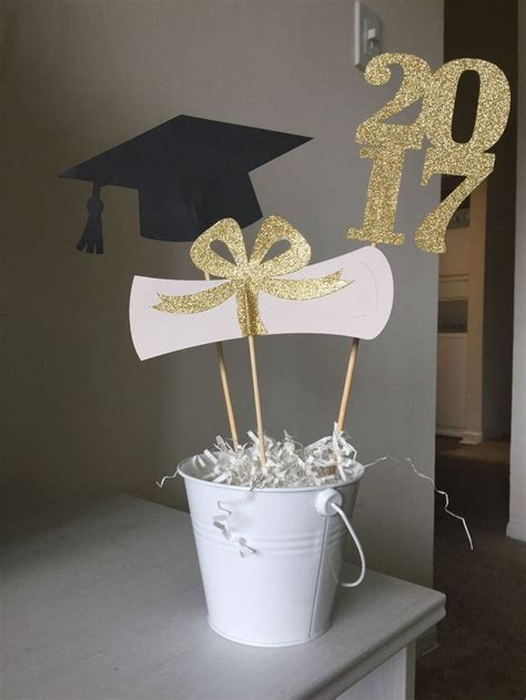 2018 graduation centerpiece sticks grad cap diploma