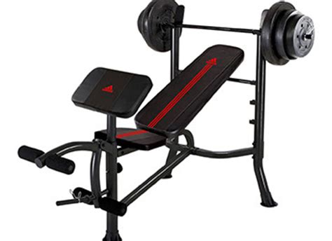 weight benches on sale adidas standard bench with 100 lb weight set on sale now
