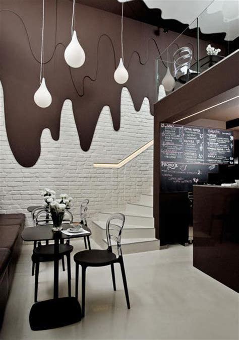 Cafe Brokat by Cafe Design Takes Simple Spin On Surface And Lighting